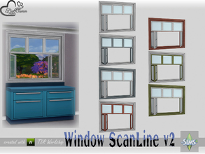 Sims 4 — WindowSet ScanLine Counter 2x1 v2 ceiling open by BuffSumm — Part of the *Window Set ScanLine* Created by