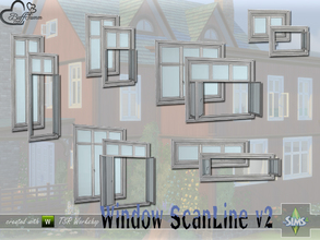 Sims 4 — WindowSet ScanLine v2 by BuffSumm — Build Series 'ScanLine' - with a touch of the North... The second Volume