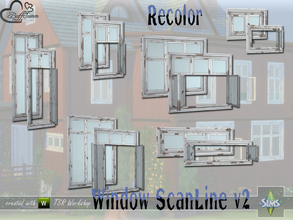 Sims 4 — WindowSet ScanLine v2 Recolor by BuffSumm — Build Series 'ScanLine' - with a touch of the North... The second