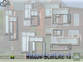 Sims 4 — WindowSet ScanLine v3 by BuffSumm — Build Series 'ScanLine' - with a touch of the North... The third Volume (v3)