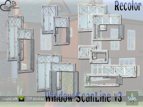 Sims 4 — WindowSet ScanLine v3 Recolor by BuffSumm — Build Series 'ScanLine' - with a touch of the North... The third