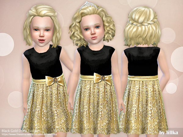 Black Gold Dress Toddler