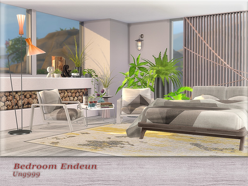 Bedroom endeun the sims 4 download simsdomination for Sims 3 6 bedroom house