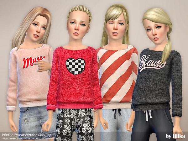 Printed Sweatshirt for Girls P27