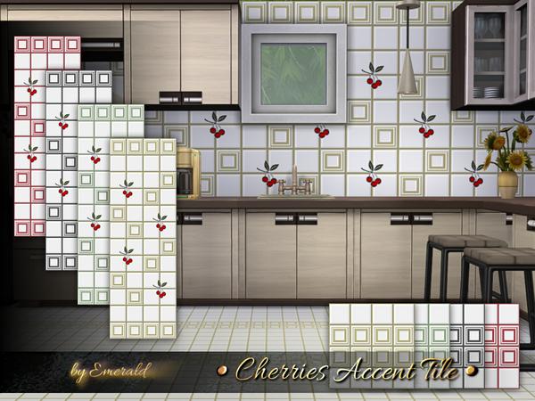Cherries Accent Tile