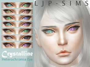 Sims 4 — Crystalline Heterochromia eye by LJP-Sims — -with custom thumbnail -with 14 colours -cas categories earring