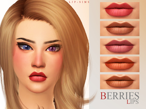 Sims 4 — Berries Lips by LJP-Sims — -with custom thumbnail -with 14 colours -for female all age note: thanks for all