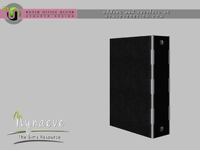 Sims 3 — Rover Ring Binder by NynaeveDesign — For Sims 4 custom content, recolors and addons check out: NynaeveDesign.com