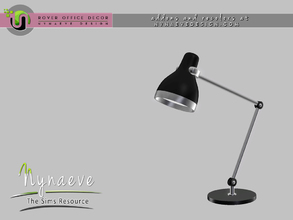 Sims 3 — Rover Desk Lamp by NynaeveDesign — For Sims 4 custom content, recolors and addons check out: NynaeveDesign.com