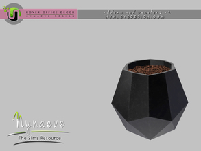 Sims 3 — Rover Geometric Vase by NynaeveDesign — For Sims 4 custom content, recolors and addons check out: