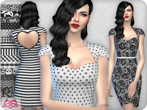 Sims 4 — My love dress RECOLOR 2 (Needs mesh) by Colores_Urbanos — 15 options Need mesh, look at recommended or