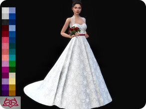 Sims 4 — Wedding Dress 11 (original mesh) by Colores_Urbanos — 30 Options New mesh made by me - Your game needs to be