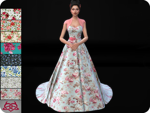 Sims 4 — Wedding Dress 11 RECOLOR 1 (Needs mesh) by Colores_Urbanos — 8 Options Need mesh, look at recommended. or