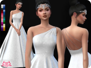 Sims 4 — Wedding Dress 12 (original mesh) by Colores_Urbanos — 30 Options New mesh made by me - Your game needs to be