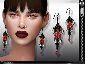 Sims 4 — MFS Ludmilla Earrings by MissFortune — New Mesh - Standalone - 3 Colors - Custom thumbnail