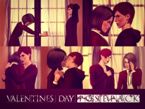 Sims 3 — Valentine's Day by Storia_Studios — I created these pictures and machinima with Masumi Kimiko and Tama Yamato to