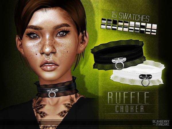 Ruffle Choker