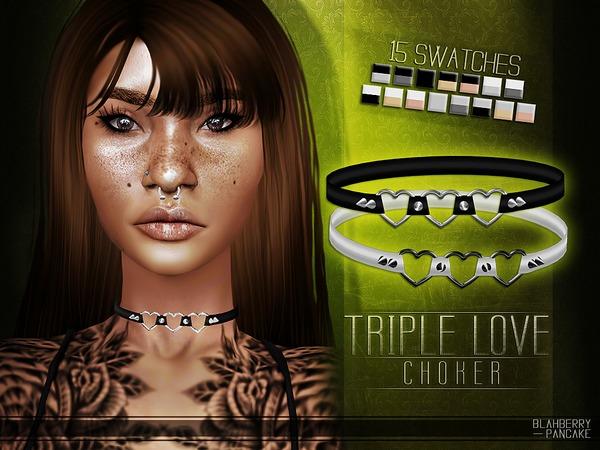 Triple Love Choker