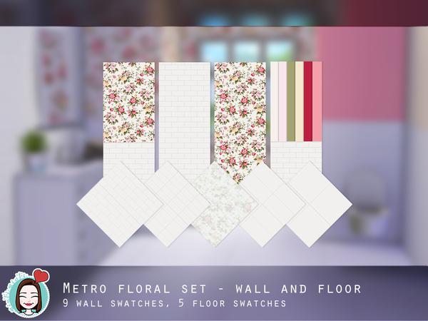 Metro Floral Set