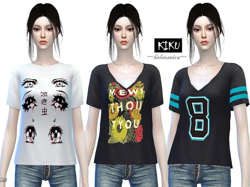 Helsoseira S Kiku Loose T Shirt Female