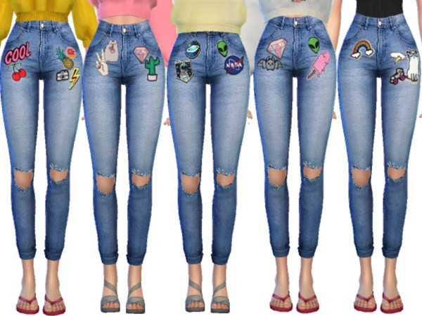 Kawaii Patched Jeans