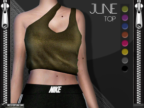Sims 4 — MFS June Top by MissFortune — New Mesh - Standalone - 8 Colors - Custom thumbnail