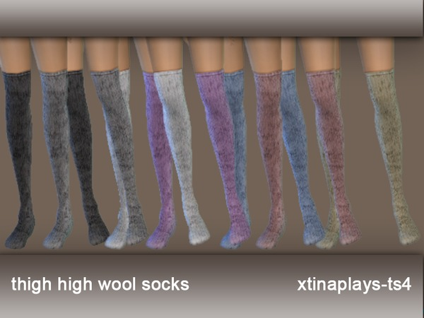 The Sims 4 Snake Thigh Tatoo: Xtinaplays-ts4's Thigh High Wool Socks