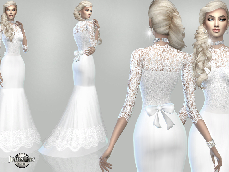 Sims 4 Wedding Dress.Jomsims Atanis Wedding Dress1