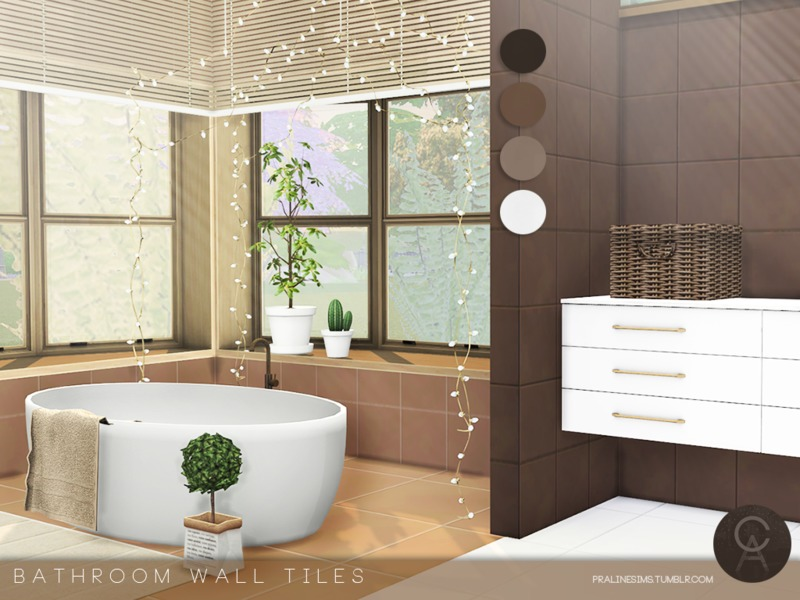 Pralinesims\' Bathroom Wall Tiles