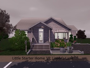 Sims 3 — Little Starter Home 19 Lover's Lane by Jujubee77 — One bedroom, one bathroom home made just for lovers. Separate