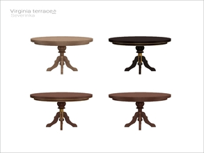 Sims 4 — [Virginia II terrace] - round table 6 person WCOL by Severinka_ — Round dining table on 6 person From the set