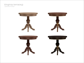 Sims 4 — [Virginia II terrace] - round table 4 person WCOL by Severinka_ — Round dining table on 4 person From the set