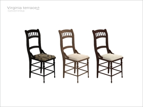 Sims 4 — [Virginia II terrace] - dining chair v01 WCOL by Severinka_ — Dining chair v01 From the set 'Virginia II