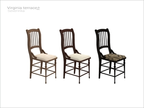 Sims 4 — [Virginia II terrace] - dining chair v02 WCOL by Severinka_ — Dining chair v02 From the set 'Virginia II