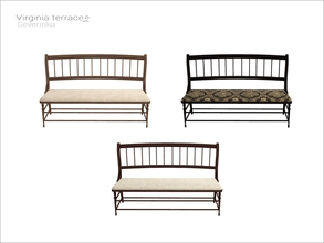 Sims 4 — [Virginia II terrace] - bench WCOL by Severinka_ — Bench From the set 'Virginia II terrace' Build / Buy