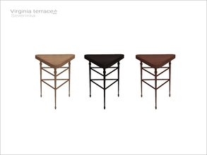 Sims 4 — [Virginia II terrace] - triangular table WCOL by Severinka_ — Triangular table From the set 'Virginia II