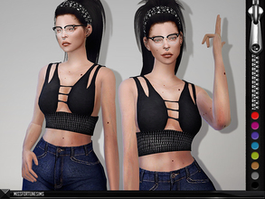 Sims 4 — MFS Stella Top by MissFortune — NEW MESH - Standalone - 8 Colors - Custom thumbnail
