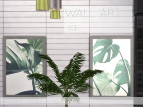 Sims 4 — Wall Art V.1  by MissSchokoLove — This simple yet elegant print of a monstera makes your living room a bit