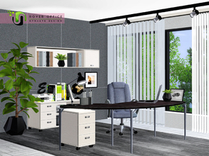 Sims 3 — Rover Office by NynaeveDesign — A modern office that could be used for business dealings, creative thoughts,