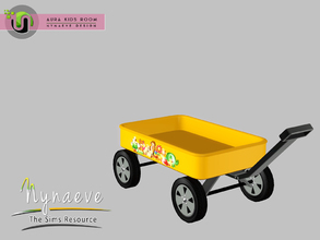 Sims 3 — Aura Toy Wagon by NynaeveDesign — Aura Kids Decor - Toy Wagon Located in: Kids - Toys Price: 141 Tiles: 0.5 x