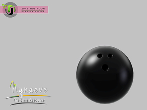 Sims 3 — Aura Bowling Ball by NynaeveDesign — Aura Kids Decor - Bowling Ball Located in: Kids - Toys Price: 141 Tiles: