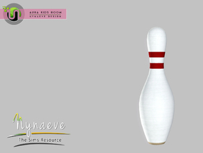 Sims 3 — Aura Bowling Pin by NynaeveDesign — Aura Kids Decor - Bowling Pin Located in: Kids - Toys Price: 141 Tiles: 0.5
