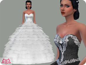 Sims 4 — Wedding Dress 13 (original mesh) by Colores_Urbanos — 30 Options I consider it to be the most beautiful bridal