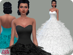 Sims 4 — Wedding Dress 13 RECOLOR 1 (Needs mesh) by Colores_Urbanos — 30 Options Need mesh, look at recommended. or