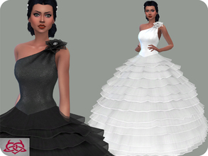 Sims 4 — Wedding Dress 14 (original mesh) by Colores_Urbanos — 30 Options New mesh made by me - Your game needs to be