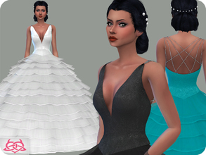 Sims 4 — Wedding Dress 15 (original mesh) by Colores_Urbanos — 30 Options New mesh made by me - Your game needs to be
