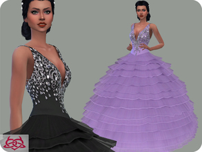 Sims 4 — Wedding Dress 15 RECOLOR 1 (Needs mesh) by Colores_Urbanos — 30 Options Need mesh, look at recommended. or