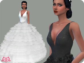 Sims 4 — Wedding Dress 16 (original mesh) by Colores_Urbanos — 30 Options New mesh made by me - Your game needs to be