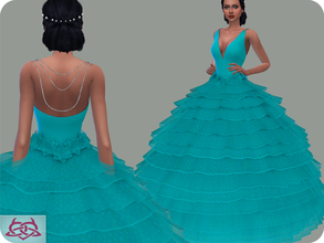 Sims 4 — Wedding Dress 16 RECOLOR 1 (Needs mesh) by Colores_Urbanos — 30 Options Need mesh, look at recommended. or