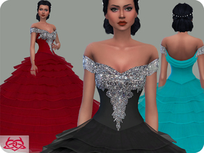 Sims 4 — Wedding Dress 17 (original mesh) by Colores_Urbanos — 30 Options New mesh made by me - Your game needs to be